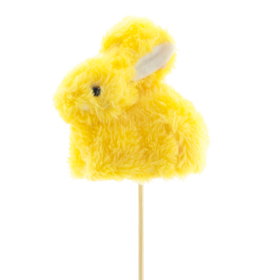 Rabbit Bibi 10cm on 50cm stick yellow