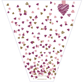 Confetti Love 21x17x5 in pink/purple