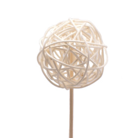 Rattan Ball 6cm on 50cm stick natural