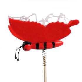 Artline Butterfly 9cm on 50cm stick red