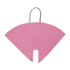 FLOWERBAG NONWOVEN HOT PINK 16X16 IN