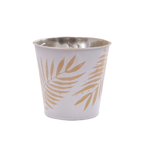 Pot Zinc Urban Jungle 4 in ocher