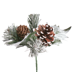 Christmas Pinecones 15cm on 50cm stick natural