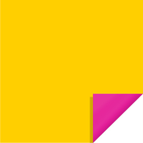 Bi-Color Sheet 24x24in yellow / hot pink