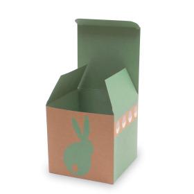 Gift box Bunny Hop 11x11x11cm green