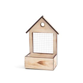 Wooden bird house 15x9 H6 TH26cm