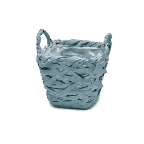 Basket Tess 15x15 H14cm ocean blue