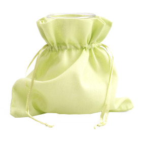Cotton bag with cord 20x20cm green
