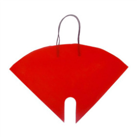 FLOWERBAG NONWOVEN 16X16 IN RED