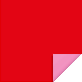 Bi-Color Sheet 24x24in red / light pink