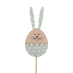 Haas Bunny Cupcake 10cm op 50cm stok groen