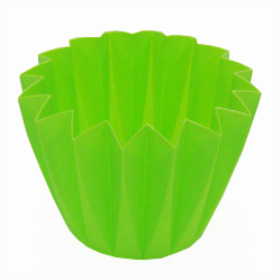 Cupcake container 5.5 in Apple (lime)