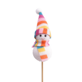Snowman Olaf 8cm on 50cm stick
