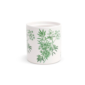 Ceramic Pot Parsley ES12 white