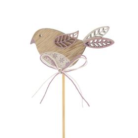 Bird Kiki 3in on 20in stick lilac