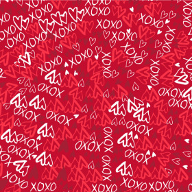 Xoxo 24x24in red
