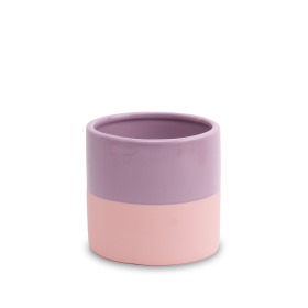 Ceramic Pot Soft Touch ES6 Mauve Mist