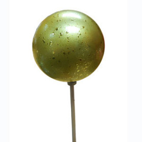 XMAS BALL FESTIVE 2.5 IN ON 20 IN STICK GOLD