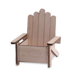 Wooden Beach Chair 18x18 H7 TH21cm natural