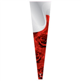 Sleeve Single Rose 65x14x3cm Opp50 red