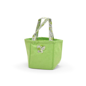 Carrybag Butterfly Felt 12.5x11.5x14.5cm green