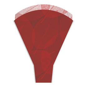 Sleeve Skeleton Leaves 50x35x10cm red