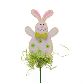 Happy Rabbit 8cm on 15cm stick green