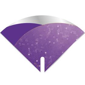 Sleeve Moon Fashion Notes 40x40cm purple