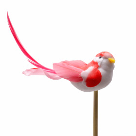Bird Lady 6cm on 50cm stick red