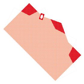 Sheet Doublé Nonwoven Dots 50x85cm red