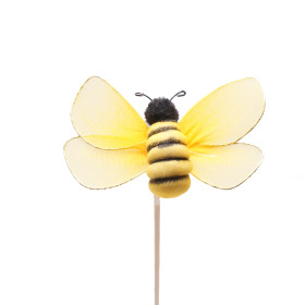 Bee Maya 2.75 in on 20 in stick yellow