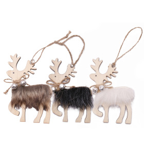 Reindeer Harry 10cm assorted x3