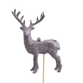 Reindeer Vixen 14x10cm on stick 50cm antracite