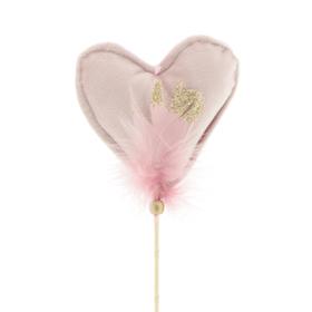 Hart Helle 10cm op 50cm stok roze