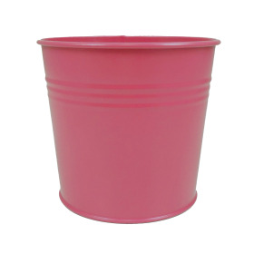 Tin Pot 6 in hot pink