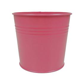 Tin Pot 6in hot pink