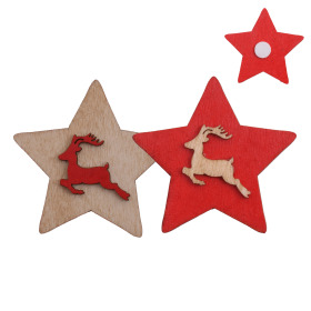 Deco Sticky Star 5cm assorted x2