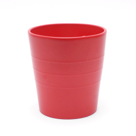 Ceramic Pot Linn 5in matte red