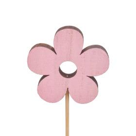 Flower Power 6cm on 10cm stick pink