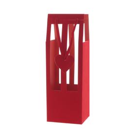 Draagtas Duchess 13/11,8x39cm FSC Mix rood