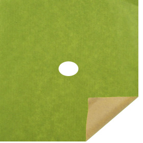 Kraft Paper 12x12 in Sheets light green with 2 in hole