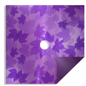 Fall Leaves 24x24in purple H3