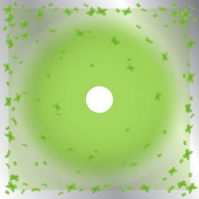 Papillon 24x24in green H3