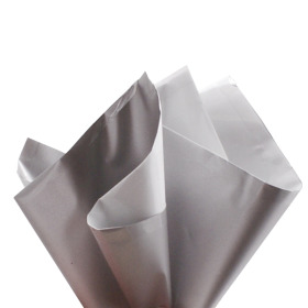 Sheet Metallic Look 80x80cm silver/white