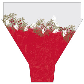 Garland 20x17x5 in red
