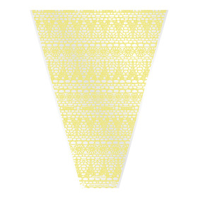 Sleeve Vintage Lace V-shape 50x35x10cm yellow