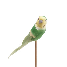 Bird Coco 14.5cm on 50cm stick green