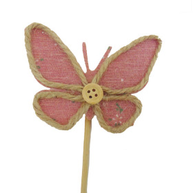 Butterfly Linn 3.5 in on 20 in pink
