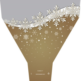 SNOWFLAKES 21x17x5 IN GOLD