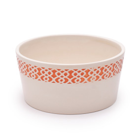 Ceramic Bowl Tribal Ø7.1 H3.5 in orange